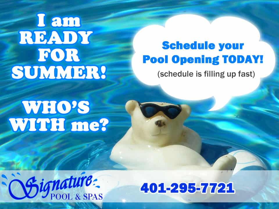Schedule Your Pool Opening Today!